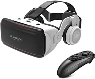 Ntech Virtual Reality Headset, 3D VR Glasses With Remote for Mobile Games and Movies, Compatible 4.7-6.2 inch iPhone/Andro...