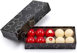 """GSE Games & Sports Expert 2-1/8"""" Regulation Size Bumper Pool Balls, Standard 10 Billiard Ball Set"""