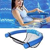 ZMDHL Tumbona flotante para piscina, con malla, apta para adultos y niños, color azul