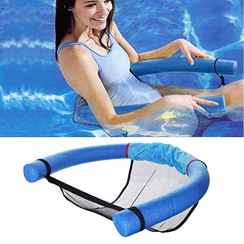 ZMDHL Schwimmender Stuhl Schwimmende Reihe Wasser-Liegestuhl Wasserbrett Schwimmbrett Pool-Nudel Stuhl Mit Netzstoff ,Wasser SchwimmschwimmstangeGeeignet für Erwachsene und Kinder.(Blau)