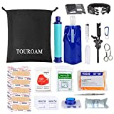 TOUROAM 64 Pcs Camping Personal Survival First Aid Refill Kit Tactical EDC Gear Trauma Preparedness Supplies for Adventure Disaster Accident Earthquake