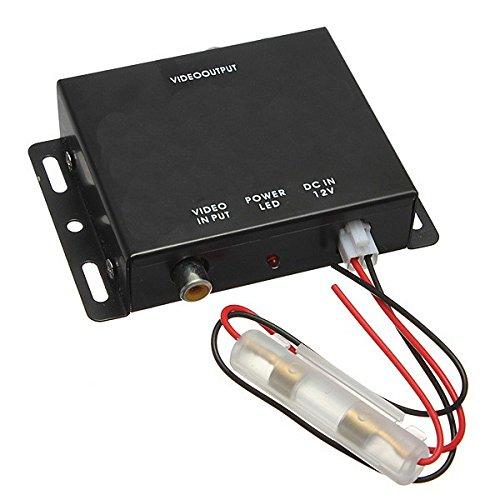 Aktiver Videoverteiler mit Video Verstärker 4Fach vierfach 4 Anschlüsse RCA Cinch für Auto PKW Wohnmobil  YMPA MZ-VV4