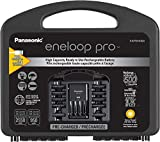 Panasonic K-KJ75KHC82A eneloop pro High Capacity Rechargeable Batteries Power Pack 8AA, 2AAA, Advanced Battery Charger with USB Charging Port and Plastic Storage Case