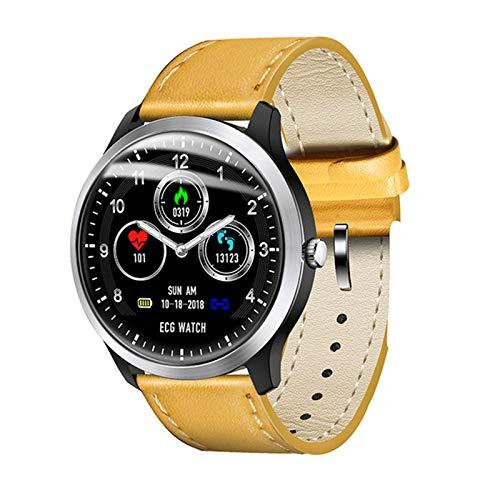 XYZK N58 ECG PPG Smart Watch con Monitor De ECG Monitor ECG MANTALLA Holter Monitor Monitor Monitor Presión Arterial Mujer Inteligente Pulsera para Android iOS,D
