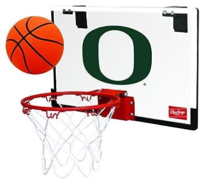 Rawlings NCAA Game On Polycarbonate (PC) Mini Basketball Hoop Set, University of Oregon Ducks
