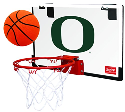 Rawlings NCAA Game On Polycarbonate (PC) Mini Basketball Hoop Set, University of Oregon Ducks