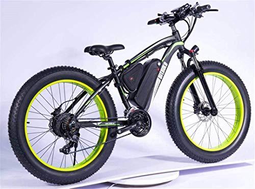 Fahrrad, 1000 Watt Electric Mountainbike 26 \'\' Fat Reifen E-Bike 48V 13ah Strand Cruiser Herren Sport Mountainbike Federung Gabel Hydraulische Scheibenbremsen, 21 Geschwindigkeiten (Farbe: schwarz)