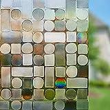 LMKJ Película de Ventana de Cristal de Color 3D, Pegatina de Vidrio, Vinilo sin Pegamento, película Decorativa para el hogar, Pegatina de Vidrio de privacidad Opaca