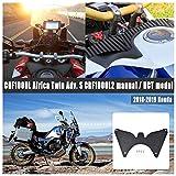 FATExpress Deflector de Viento de la Presa de Aire del Flujo de Aire Ascendente de la Horquilla de la Motocicleta para 2018 2019 H-o-nd-a CRF1000L Africa Twin ADV Adventure Sports CRF1000L2 DCT