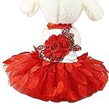 Yinuoday Vestito da Cucciolo di Cane Vestito da Cucciolo con Foglie di Fiori Vestito da Co...