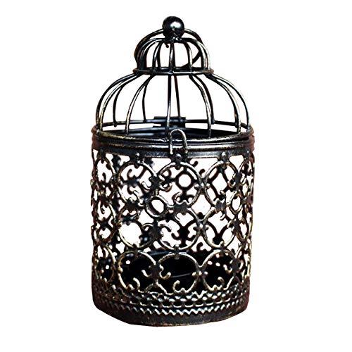 Gespout Candlestick Weihnachten Kerzenständer Metall Teelicht Laterne Vintage-Stil klassischer Kerzenständer Laternen Hohle Vogelkäfig Kerzenständer