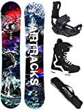 AIRTRACKS Snowboard Set - Planche Fantasy Wide 153 - Fixations Master - Softboots...