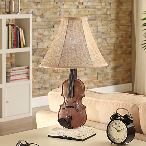 Vintage Style Violin Table Lamp