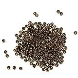 CUTICATE 300pcs / Set Mini Botones Minúsculos De Metal para Ropa De Muñecas Accesorios De Bricolaje - Dorado - Bronce Claro