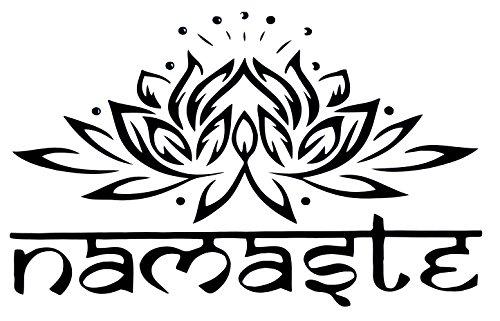 Wandklebefolie Wandtattoo Sticker Aufkleber * NAMASTE * Lotus Blume - Sanskrit - Meditation Yoga Spiritualität Esoterik Astrologie Energie