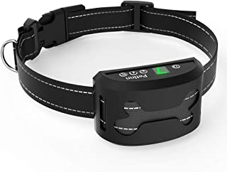PetInn Rechargeable No Bark Collar Adjustable 7 Sensitivity Barking Control Training Collar with Beep Vibration and No Harm Shock Anti-Bark Collar for Small Medium Large Dogs