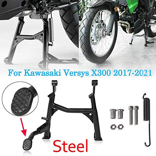 Motorcycle 17 18 19 20 21 Versys X-300 Black Centerstand Center Kickstand Foot Center Stand Support For Kawasaki Versys X300 Versys-X300 2017 2018 2019 2020 2021