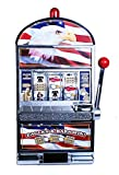 trademark games 10-41444 star spangled eagle flag slot machine bank