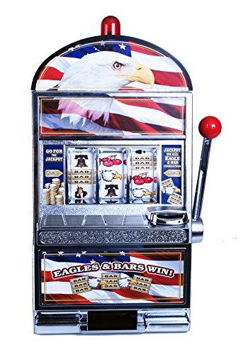 Trademark Games 10-41444 Star Spangled Eagle Flag Slot Machine Bank
