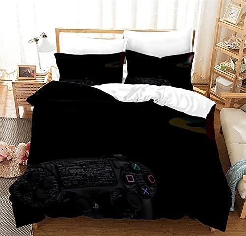 Juego de Cama 3D Funda de edredón para niño Funda de edredón Rojo diseño de sábana y Funda de Almohada, Adecuado para Adolescentes Juego de 2/3 Piezas 220x240cm 3
