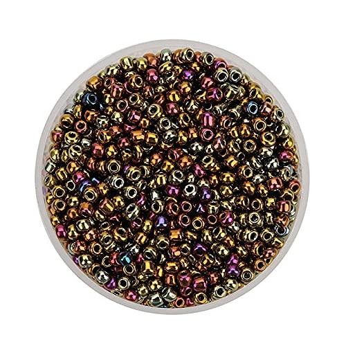 zz Apx 2800pcs 2.5mm profundo Color checo Perlas de Cristal Charms Semilla Perlas de Cristal Kralen Espaciador Perlas para Joyería DIY Haciendo Pulsera YC806 (Color: 1)