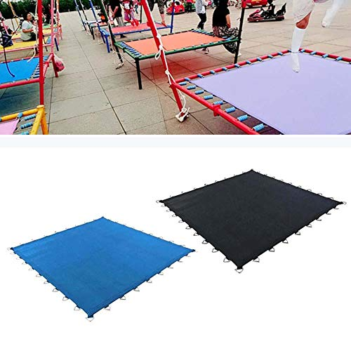 wangza Trampoline Jumping Mat Replacement Garden Trampoline Jump Mat for Square Trampolines Waterproof Cover Heavy Duty Thick PP Mesh Trampoline Jump Mat