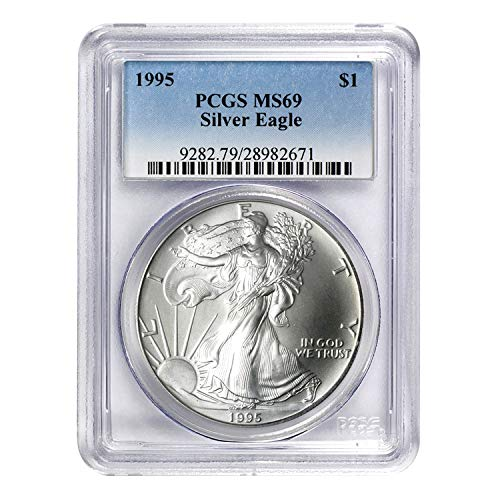 1995 American Silver Eagle ASE Mixed MS-69 PCGS