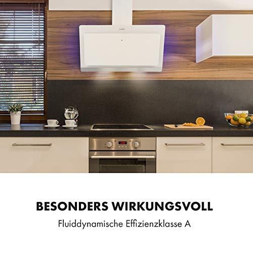 Klarstein Aurora Eco 90 - Wandabzugshaube, Kopffreihaube, Dunstabzugshaube, 90 cm, 550 m³/h Leistung, RGB-Farben, 59 dB leise, Umluft und Abluft, weiß - 3
