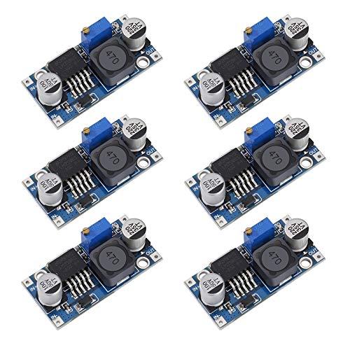 DC a DC Buck Converter LM2596 3A Regulador de Voltaje de Alta Eficiencia 3.2-40V a 1.25-35V Ajustable Step Down Módulo 6 Piezas