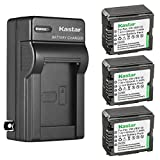 Kastar 3-Pack VW-VBG130 Battery and AC Wall Charger Replacement for Panasonic SDR-H60P, SDR-H68GK, SDR-H79, SDR-H79K, SDR-H79P, SDR-H80, SDR-H80A, SDR-H80K, SDR-H80P, SDR-H80PC, SDR-H80R, SDR-H80S
