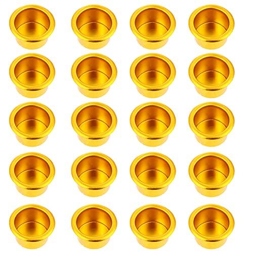 OSALADI 20 Piezas de Metal Vela Taza Té Ligero Candelabros Votivos Clavijas para Centros de Mesa de Boda Halloween Navidad Lámpara Hacer Velas