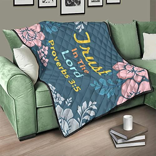 AXGM Colcha de confianza en el señor Rose, edredón de cama, manta acogedora con impresión 3D, para viajes, camping, color blanco, 173 x 203 cm