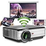 4000 lumen 1080P Wireless Wifi Video proiettore per iPhone Samsung Laptop Windows PC XBOX, HD Android Home all'aperto Movie Gaming proiettore WXGA 1280x800 con HDMI USB VGA AV TV 3.5mm Audio Out