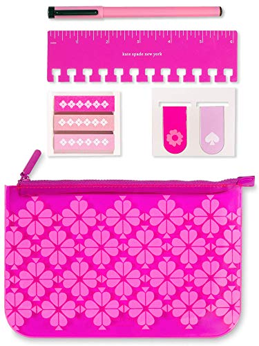 Kate Spade New York Pencil Case Filled with Planner Accessories, Zipper...