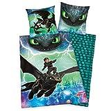 Dragons Bettwäsche glatt Drachen LEUCHTET IM Dunkeln 135 x 200 cm Geschenk NEU Wow -...