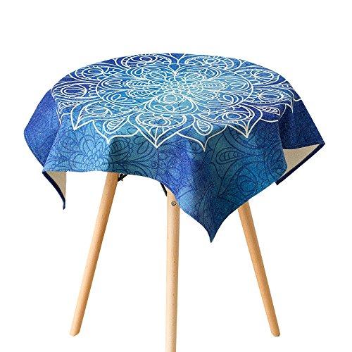 Uus Bleu Nappe en lin naturel de l'environnement Coupon de Tissu Housse de table simple Mode Nappe, bleu, 140*200cm