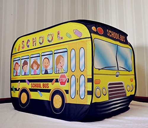 LAMPSJN Kinder-Spielzelt Faltbarer Kinder-Spielzeug-Auto-Zelt-Spielhaus for Babys Indoor und Outdoor Games Geburtstags-Geschenk Beruhigender Kinder-Tipi (Color : School Bus)