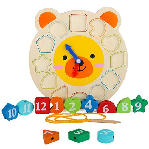 Jouets pour enfants jouets en bois jouets éducatifs horloges numériques reconnaissent plus de 12 mois bébé blocs de construction jouets assemblés jouets éducatifs forme jeu de correspondance