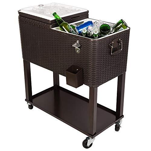 wicker beverage cooler - 9