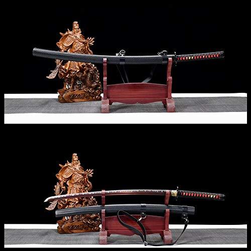 GLW Kanata Battle Ready Japanese Sword Katana 9260 Spring Steel Full Tang Razor Sharp