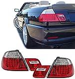 Carparts-Online 13581 LED Rückleuchten rot klar Facelift Optik