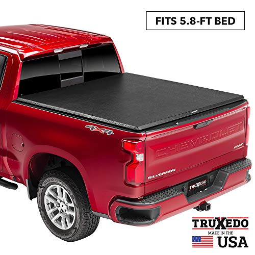 """TruXedo TruXport Soft Roll Up Truck Bed Tonneau Cover   272401   fits 2019 - 2020 New Body Style GMC Sierra & Chevrolet Silverado 1500 (Will not fit Carbon Pro Bed) 5'8"""" bed"""