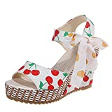 Bed Wedges For Sleeping Toddler Sandals Girls High Heel Wedges Mens Water Shoes Shoes For Beach (Yellow5,8)