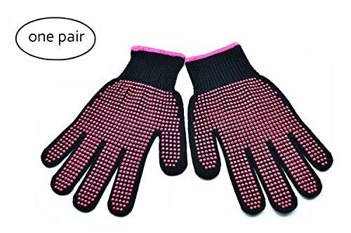 Orchidtent Professionele hittebestendige handschoenen voor haarstyling - 1 paar anti-slip hittebestendige beschermende handschoenen met siliconenstip - Warmteblokkerende wanten voor plat ijzer en krultang