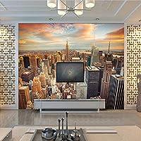 3D壁紙壁画超高層ビルニューヨーク市建物壁画寝室リビングルームソファ壁紙家の装飾-250x175cm