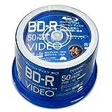 HIDISC 6倍速対応BD-R 50枚パック 25GB ホワイトプリンタブルハイディスク VVVBR25JP50