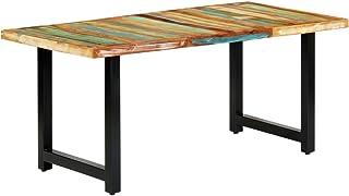 vidaXL Mesa de Comedor de Madera Maciza Reciclada Mobiliario Casa Diseño Elegante Moderna Estable Práctica Decorativa Duradera Robusta 180x90x76cm