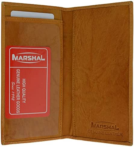 Genuine Leather Simple Check Book Holder style mw156cf Tan product image