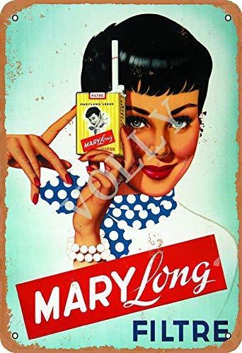 Vvision Marylong Filtre Signe d'étain Affiche en métal Panneau d'avertissement rétro Plaque de Fer Plaque Affiche Vintage Chambre Mur de la Maison en Aluminium Art décoration