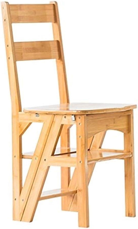 TLTLTD Step Ladder 4-Step Stair Chair flip Folding Wooden Practical Steps 35  38  90cm